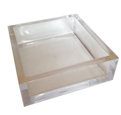 Lucite Cocktail Napkin Holder by Caspari