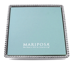 Beaded Luncheon Napkin Box by Mariposa
