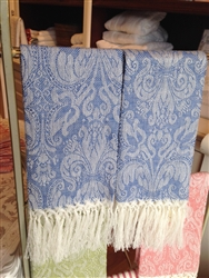 Giglio Guest Towel with Fringe (Light Blue) by Busatti