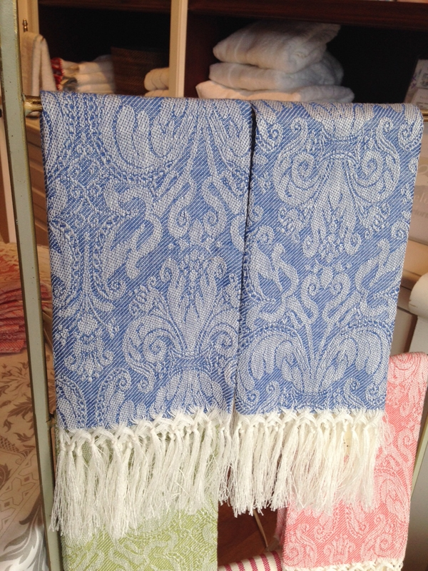 Busatti Giglio Guest Towel With Fringe Light Blue