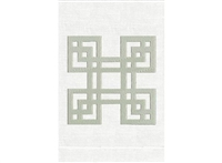 Anali - Four Square Linen Guest Towel (Silver/White)
