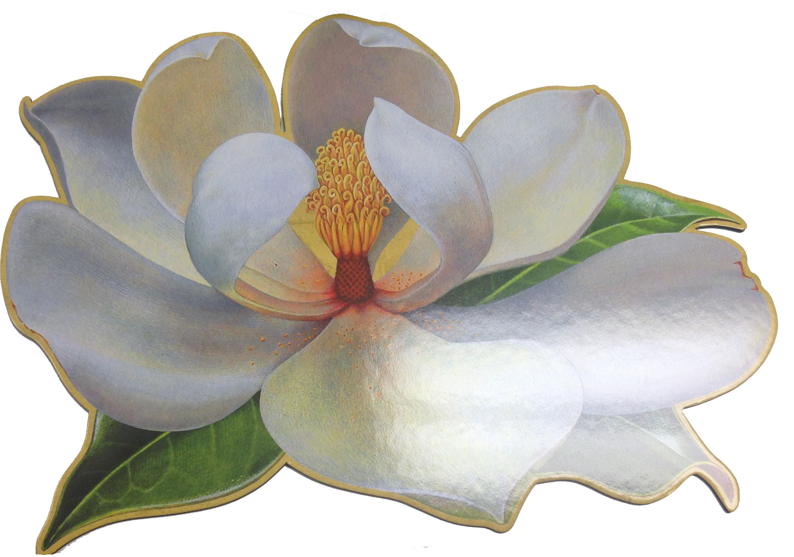 Caspari Magnolia Die Cut Placemat
