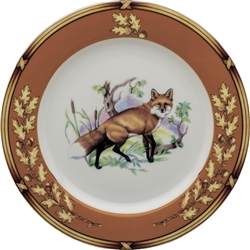 "American Wildlife Fox Salad Plate (8"") by Julie Wear"