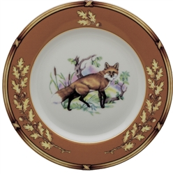 "American Wildlife Fox Bread Plate (6.5"") by Julie Wear"