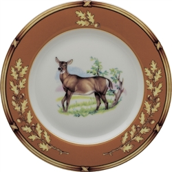"American Wildlife Doe Bread Plate (6.5"") by Julie Wear"