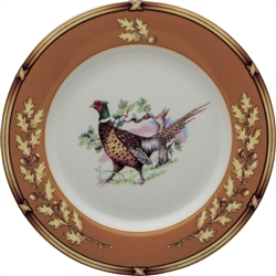 "American Wildlife Pheasant Bread Plate (6.5"") by Julie Wear"