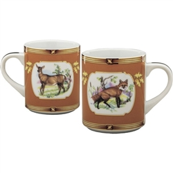 American Wildlife Fox and Doe Mug by Julie Wear