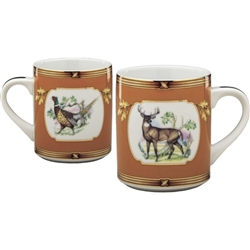 American Wildlife Buck and Pheasant Mug by Julie Wear