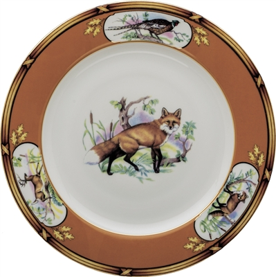 "American Wildlife Fox Luncheon Plate (9"") by Julie Wear"