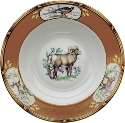 "American Wildlife Big Horn Ram Rim Soup Plate (9"") by Julie Wear"