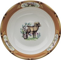 "American Wildlife Big Horn Ram Serve Bowl (9"") by Julie Wear"