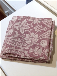 Donna di Coppe Hemstitch Napkin (Bordeaux) by Busatti