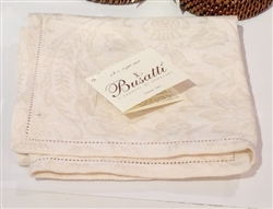 Hemstitch Napkin (Cream) by Busatti