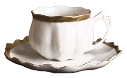 Anna's Golden Patina Tea Cup and Saucer by Anna Weatherley