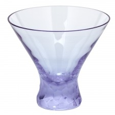 Pebbles Alexandrite Stemless Martini Glass by Moser