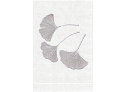 Anali - Ginkgo Guest Towel (Silver/White)
