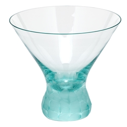 Pebbles Beryl Martini Glass by Moser