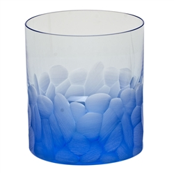 Pebbles Aquamarine Double Old Fashioned Glass by Moser