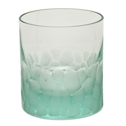 Pebbles Beryl Double Old Fashioned Glass by Moser