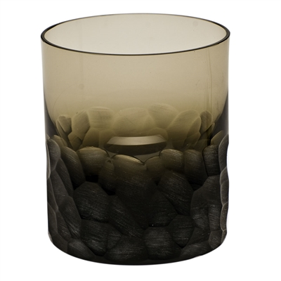 Moser Pebbles Smoke Double Old Fashioned Dof Glass