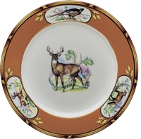 "American Wildlife White Tail Buck Luncheon Plate (9"") by Julie Wear"