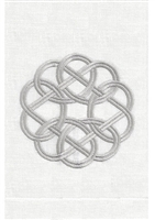 Anali - Knot Guest Towel (Silver/White)
