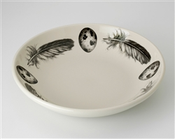 Feather and Egg Shallow Bowl by Laura Zindel Design