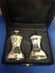 Heavy Silver Plated Salt & Pepper Shakers (Boxed Set)