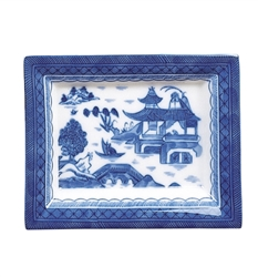 Blue Canton Small Rectangular Tray by Mottahedeh