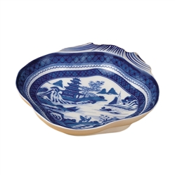 Blue Canton Shell Dish by Mottahedeh