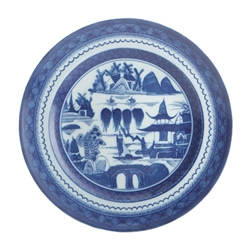 Blue Canton Salad Plate by Mottahedeh