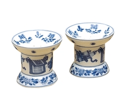 Blue Canton Salt and Pepper Set by Mottahedeh