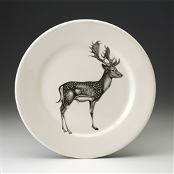 Fallow Buck Dinner Plate by Laura Zindel Design