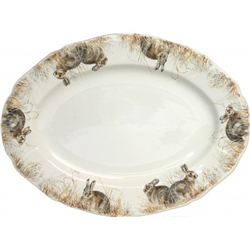 Sologne Oval Platter (15 x 11) by Gien France