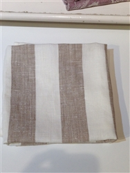 Philippe Linen Napkin (White/Birch) by Linen Me