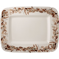 Sologne Foliage Rectangular Platter by Gien France