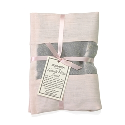 Lavender Pillow Insert in Pink Linen by Elizabeth W