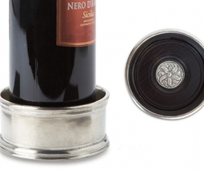 Match Pewter - Bottle Coaster with Wood Insert