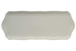 Pont Aux Choux White Oblong Serving Tray by Gien France