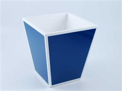 Waste Basket True Blue and White by Pacific Connections