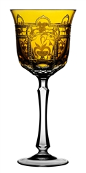 Imperial Amber Water Glass by Varga Crystal