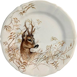Sologne Deer Dessert Plate by Gien France