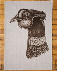 Pheasant Head Tea Towel by Laura Zindel Design