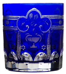 Imperial Cobalt Double Old Fashioned Glass by Varga Crystal