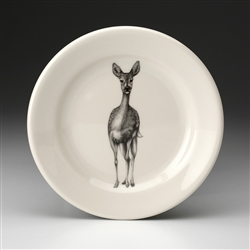 Fallow Doe Deer Salad Plate by Laura Zindel Design
