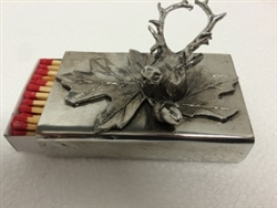 Aspen Antler Match Box by Cipolla Pewter