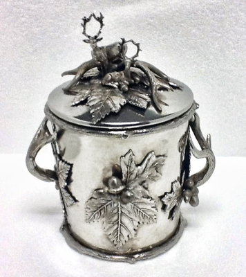 Cipolla Pewter Aspen Antler Covered Ice Bucket