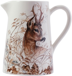 Sologne Deer Pitcher by Gien France