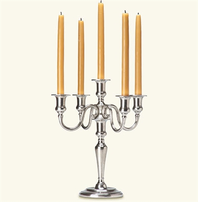5 Flame Candelabra by Match Pewter