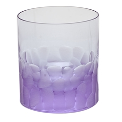 Pebbles Alexandrite Double Old Fashioned Glass by Moser